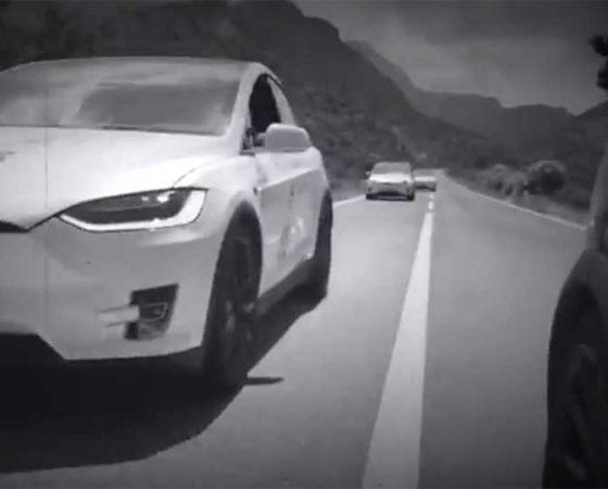 NT 2017 Rally Tesla model X drive